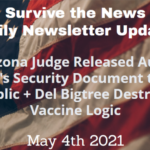Daily Update 5-4-21: Arizona Judge Released Audit Team's Security Document to the Public + Del Bigtree Destroys Vaccine Logic