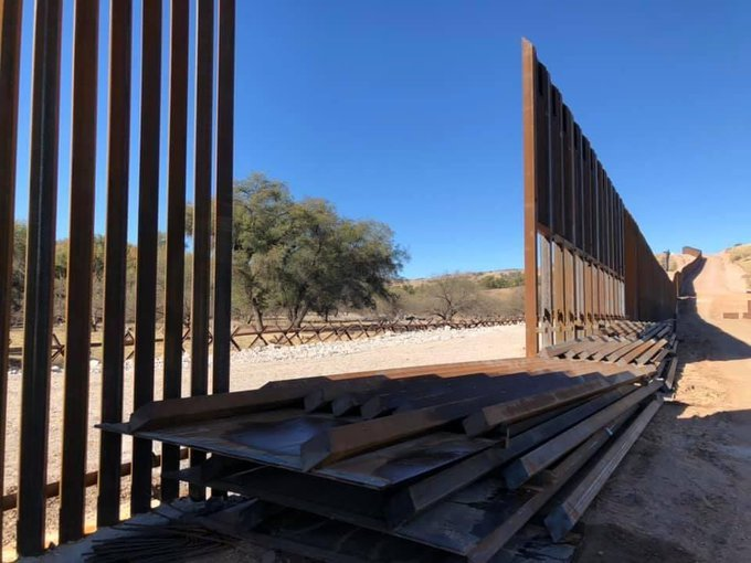 Biden Admin Is Paying Contractors Not to Build Wall But to Sit and Watch Piles of Steal Beams and Sections of Wall from Being Stolen