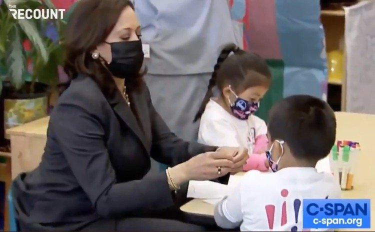 """Kamala Harris Makes a Trip to an Early Childhood Education School All About Herself: """"I'm the First VP Who's a Girl, Not a Boy"""" (VIDEO)"""