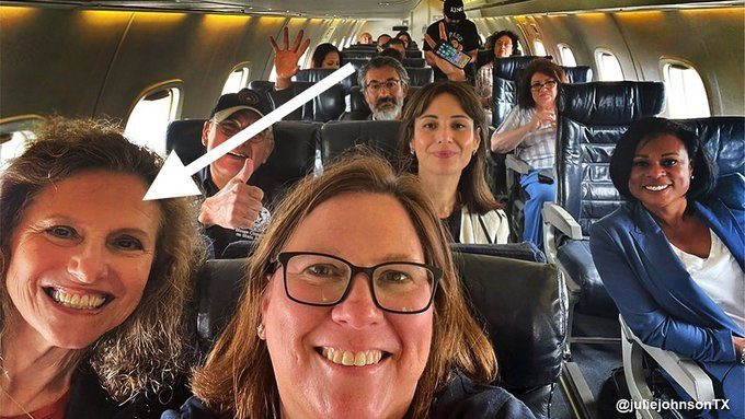 Texas Democrat Pictured Maskless on Private Plane to DC Calls For 'Universal Mask-Wearing'