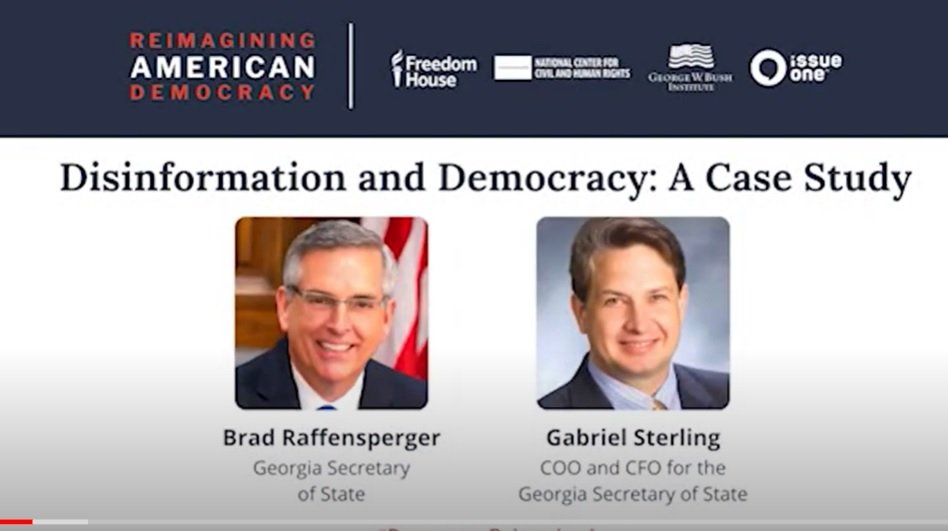 """""""The Gateway Pundit Has Made a Bank on the Secretary and I Themselves"""" – Corrupt Gabe Sterling Attacks Gateway Pundit in Bizarre Rant on 'Combatting Disinformation' (VIDEO)"""