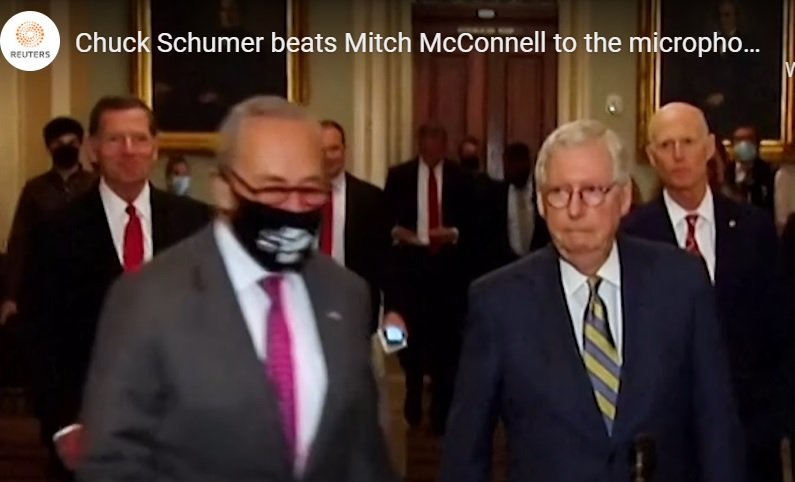 McConnell and the 'Republicans' in the Senate Continue to Be Outmaneuvered by Democrats and Then They All Laugh About It