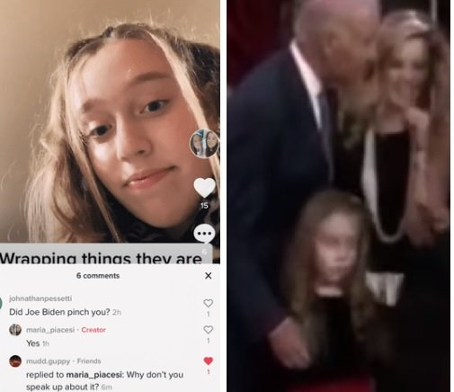 SICK: Girl Who Was Touched by Creeper Joe Biden on Camera Confirms he Groped Her and Pinched Her Nipple #MeToo