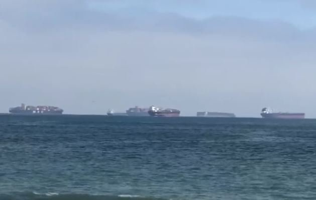 What's Going On?  The Number of Container Ships Drifting Off Ports of Los Angeles and Long Beach at All-Time High