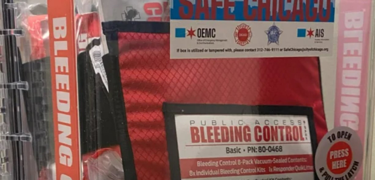 To Combat Increase in Shootings Chicago Installs 'Bleeding Control Kits' in City Buildings